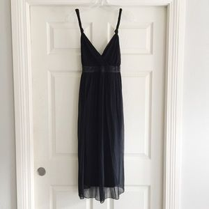 Black Silk Mimi Maternity Cocktail Dress B224